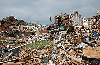 Destruction caused by the Joplin, Missouri, tornado that struck on May 22, 2011 causing 161 fatalities and more than 1,000 injuries. The tornado was the deadliest single tornado since official U.S. recordkeeping began in 1950. Credit: Jace Anderson/FEMA