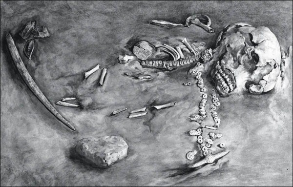 Remains of 24,000 Year-Old Mal'ta Boy (photo courtesy of State Hermitage Museum in Russia)