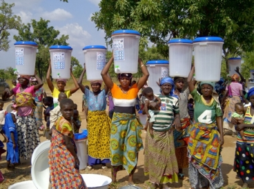 Pure Home Water has reached more than 100,000 poor rural women, children, and families with safe drinking water via ceramic pot filters produced at a factory in Tamale, Ghana. Photo courtesy of the researcher.