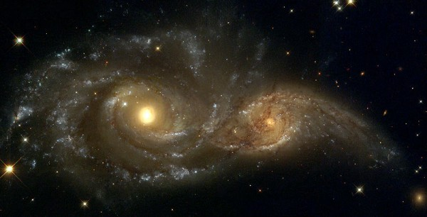 Hydrogen deficiency may point to galactic-scale gas robbery