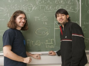 Arjun Bagchi (right) is a physicist from India, currently holding a Lise-Meitner Fellowship, working with Daniel Grumiller (left) on holographic correspondences in flat spacetimes.