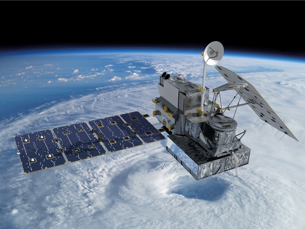 Artist concept of the Global Precipitation Measurement (GPM) Core Observatory satellite. Image Credit: NASA's Goddard Space Flight Center
