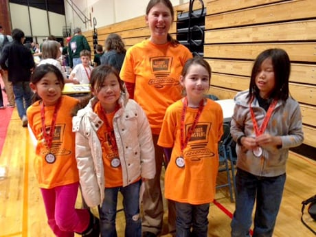 Robin Bjorkquist with some of the girls from the Robot Masters LEGO team in Corning, N.Y., after their qualifying tournament. Credit: Lora Hine Robin Bjorkquist with some of the girls from the Robot Masters LEGO team in Corning, N.Y., after their qualifying tournament. LEGO robotics? Not my thing. When Lora Hine, director of educational programs at the Cornell Laboratory for Accelerator-Based Sciences and Education, asked me to co-coach a FIRST LEGO League (FLL) team this past fall, I hesitated. After all, when I was a kid, I would never have joined a robotics team. I had no interest in gadgets, technology or computer programming. I didn't even
