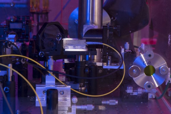 RAMBO, the Rice Advanced Magnet with Broadband Optics, is a powerful magnetic pulse generator that allows scientists to test materials in high magnetic fields. (Credit: Jeff Fitlow/Rice University)