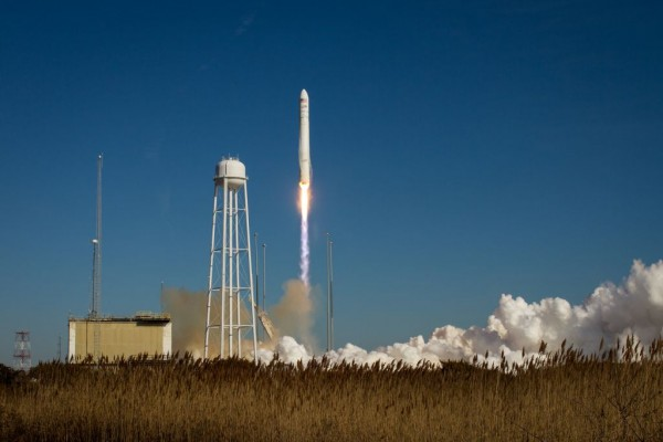 The Antares rocket carrying the Cygnus cargo spacecraft launches from NASA's Wallops Flight Facility in Virginia. Image Credit: NASA/Bill Ingalls