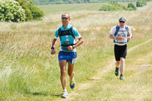 Researchers have recently published the baseline findings of a longitudinal study on the health of ultrarunners. Above, participants compete in a 100-kilometer ultramarathon in Britain.