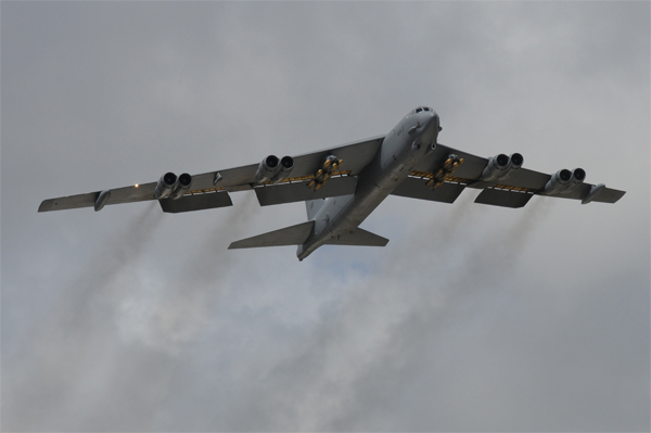 Maintaniers at the Oklahoma City Air Logistics Complex will work with Boeing to perform an upgrade to the B-52, which will increase it's smart-weapon capabilities.(U.S. Air Force photo/Senior Airman Carlin Leslie)