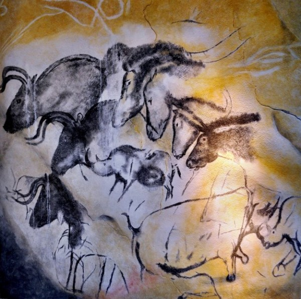 The 30 000-year-old Chauvet Cave paintings in southern France employ burnt bone from fires as the source of their black pigment. Copyright Wikimedia