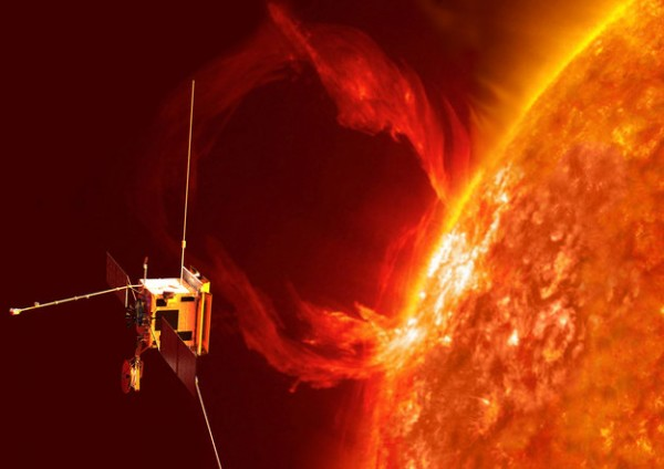 ESA's next generation Sun explorer, Solar Orbiter will be launched in 2017. It will investigate the connections and the coupling between the Sun and the heliosphere, a huge bubble in space created by the solar wind. The solar wind can cause auroras and disrupt satellite-based communication. Copyright ESA/AOES