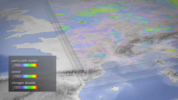 Sentinel-5 is set to make a step change in monitoring and forecasting global air quality. Copyright ESA/DLR