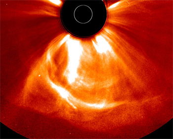 This image captured on July 23, 2012, at 12:24 a.m. EDT, shows a coronal mass ejection that left the sun at the unusually fast speeds of over 1,800 miles per second. Image Credit: NASA/STEREO
