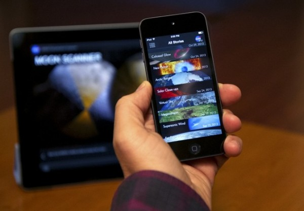 Users now can enjoy the NASA Visualization Explorer app's stories on the iPhone, iPod Touch and the iPad. Image Credit:  NASA Goddard