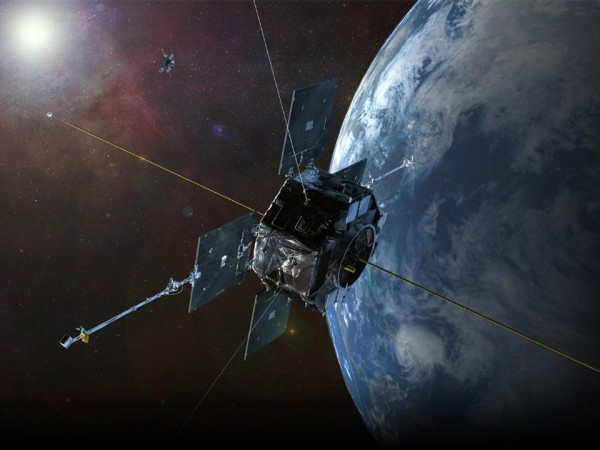 Artist's rendition of the Van Allen Probes in orbit. Image Credit: NASA