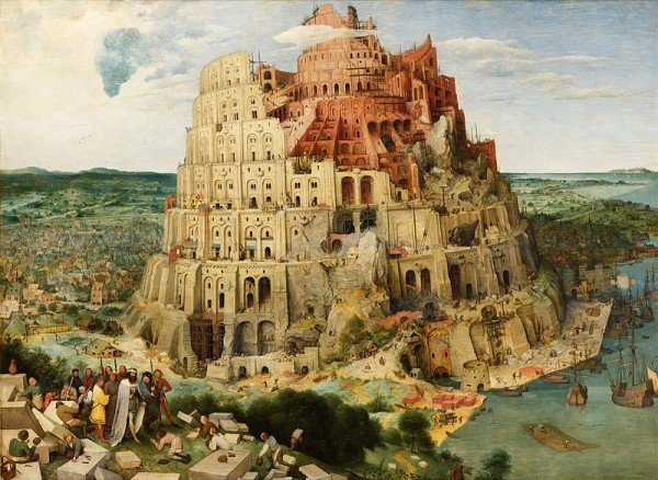 Picture: Construction of the Tower of Babel, 1563. Author: Pieter Brueghel the Elder. Source: Wikimedia Commons
