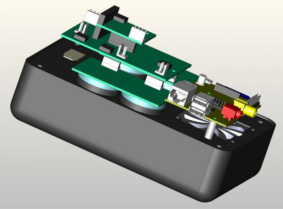 Graphic showing a CLAIRITY node without the 3-D printed casing. Photo courtesy of CLAIRITY Hardware Team