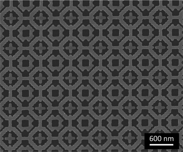 Overall pattern of the metamaterial absorber. Image: Bossard/Penn State