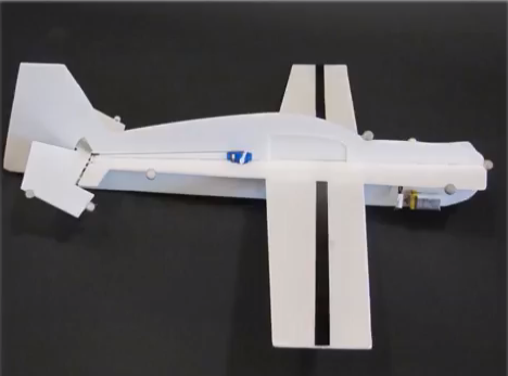 A team of CSAIL researchers designed a single-motor glider (pictured here) that can perch on power lines like a bird.