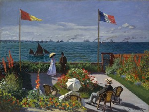 Picture: Jardin a Sainte-Adresse. Author: Claude Monet. Year: 1866⁄1877. Source: The Metropolitan Museum of Art
