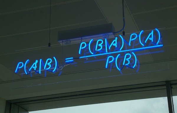 Bayes' rule is often used as a reference in modeling belief-revision. Yet it fails to account for more nuanced aspects of the way humans change their opinions. Image credit: Bayes' Theorem MMB 01 by mattbuck via Wikimedia Commons