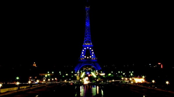 Picture: Blue Eiffel tower for the French Presidency of the Council of European Union. Source: Wikimedia Commons