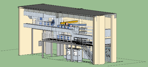 Architectural drawing of the new NIST 'intelligent agents' lab for more efficient building control systems. Credit: Kikkeri/NIST