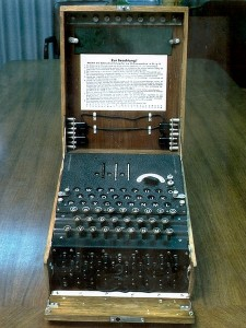 Originally an exclusively military endeavor, cryptography has become a civil issue, and scientists are trying hard to make it more accessible to general audience. Source: Wikimedia Commons.