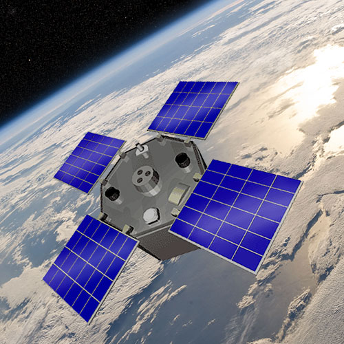Artist's rendering of the AcrimSat spacecraft. Image Credit: NASA