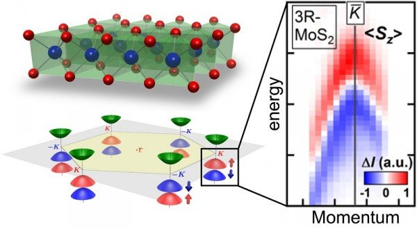 Crystal structure, electronics states, spin-resolved photoemission spectrum of molybdenum disulfide. © 2014 Iwasa Group.