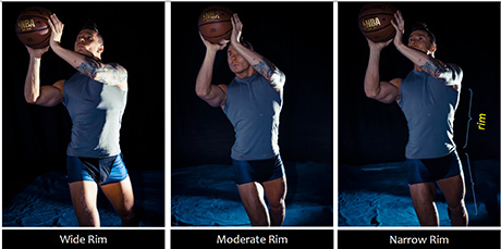 Rim Lighting outlines a subject for dramatic effect. Moving the light source forward and back in an arc around the subject controls the width of the rim.