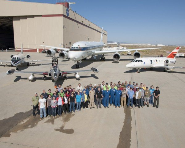All of the aircraft, researchers and flight operations people who made ACCESS II happen. Image Credit: NASA / Tom Tschida