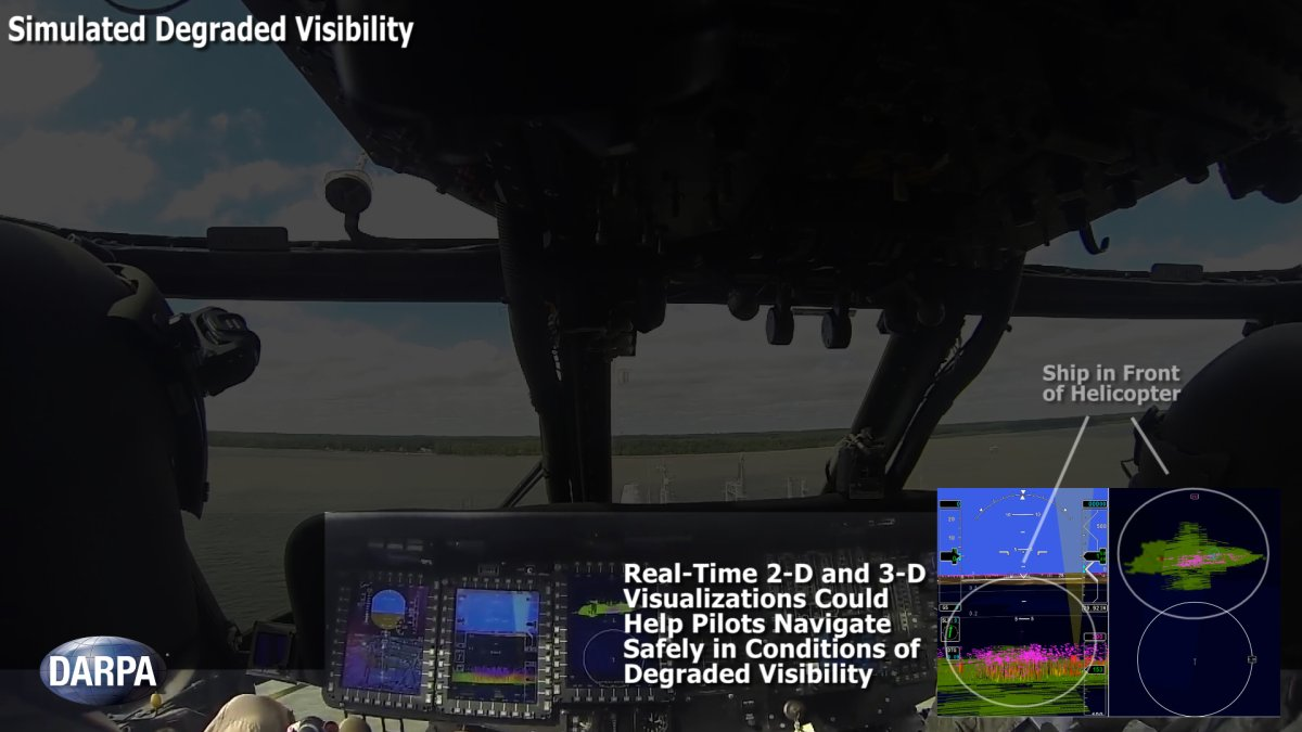 DARPA's Multifunction RF (MFRF) program seeks to enhance the survivability and combat effectiveness of helicopters facing degraded visibility. The program aims to develop multifunction sensor technology that would enable sensor packages small, light and efficient enough for installation on existing and future helicopter designs.