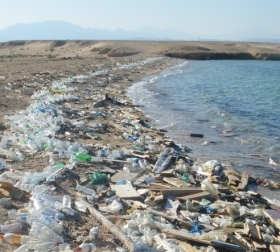 Rubbish strewn on beaches eventually ends up in one of the world's giant ocean garbage patches.  Credit: Vberger/Wikimedia Commons