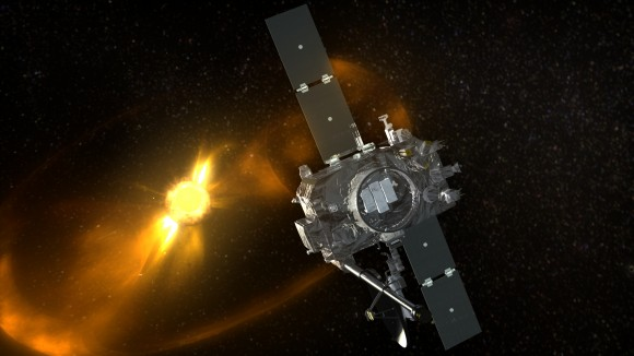Artist's conception of one of the Solar TErrestrial RElations Observatory (STEREO) spacecraft. Credit: NASA