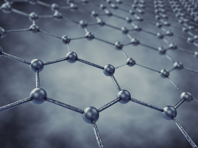 Graphene's hexagonal structure makes it an excellent lubricant. Image credit: ANL