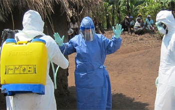 Stopping Ebola in its tracks calls for rapid control measures in Africa and elsewhere. Credit: CDC