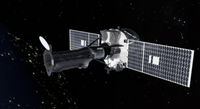 An artist's rendition of NASA's Interface Region Imaging Spectrograph, or IRIS, mission in space. Image Credit: NASA/Goddard Space Flight Center