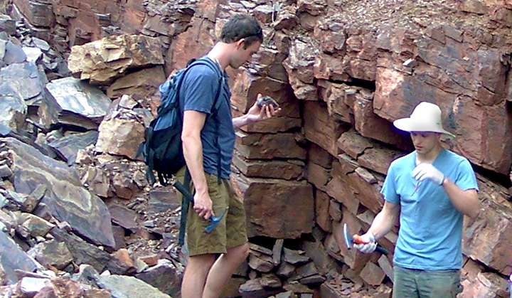 Chris Reinhard and Noah Planavsky conduct research for the study in China.
