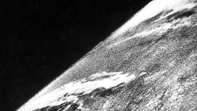 The first photo of Earth from space was taken on Oct. 24, 1946 (Credit: White Sands Missile Range/Applied Physics Laboratory)