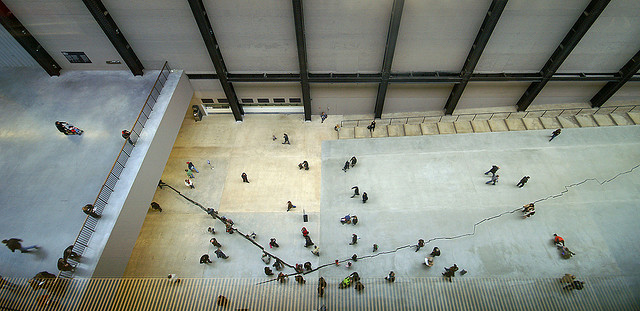 Picture: Tate Modern - The crack in the floor. Image credit: Nick Garrod via Flickr, CC BY-NC-ND 2.0.
