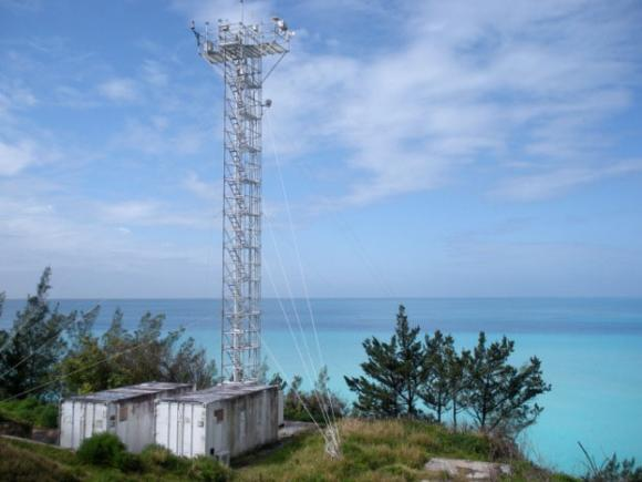 Laboratory for wind and rain: By taking rain samples under different prevailing winds, researchers in Bermuda can compare ammonium in air masses coming from over the open ocean and from the continental United States. Ammonium levels can be explained by natural causes.