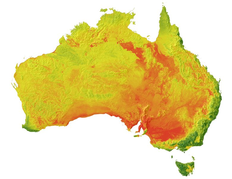 Australia-wide image of pH at 100-200 cm average depth. Image: CSIRO