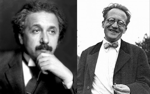 Two of the perpetrators of the century-long problem of unifying General Relativity Theory and Quantum Physics – Albert Einstein, Erwin Schroedinger.