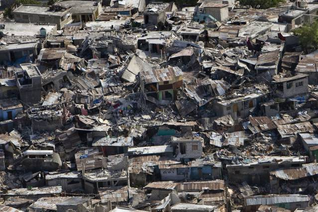 Displacement can result from a number of factors including natural disasters, armed conflicts, medium- and large-scale development projects, resource extraction, and even neighborhood gentrification. Pictured here: earthquake damage in Haiti. Photo: UN Photo/Logan Abassi United Nations Development Programme