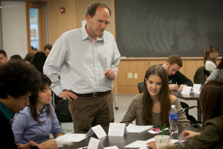 Steve Strogatz brings math alive through engaged learning techniques in his new class, Mathematical Explorations. Image credit: Jason Koski/Cornell