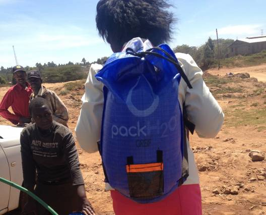 Greif, creator of the ergonomic PackH2O water backpack, is one of 10 global organizations that have joined the D-Lab-led Practical Impact Alliance as part of a commitment to increase, accelerate, and sustain impact on global poverty through shared learning and collaborative action. Photo: Rebecca Smith/D-Lab Scale-Ups