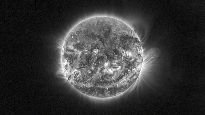 Our Sun as seen by the SWAP instrument on board ESA's SSA mission, Proba-2, on 31 October 2014. Copyright ESA/ROB