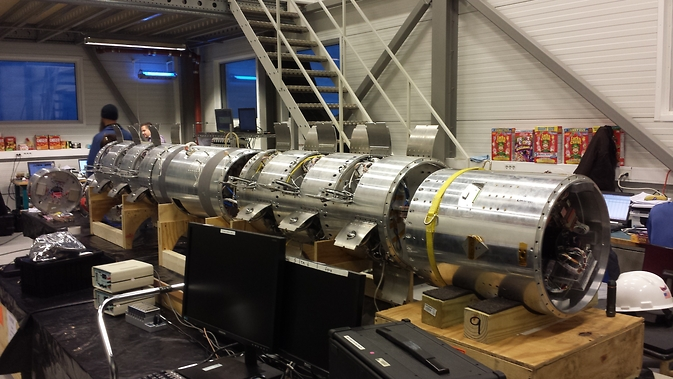 The Cusp-Region Experiment, or C-REX, payload undergoes final assembly and testing in facilities at the Andoya Rocket Range in Norway. Image Credit: NASA