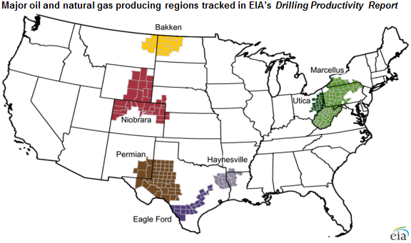 Source: U.S. Energy Information Administration, Drilling Productivity Report
