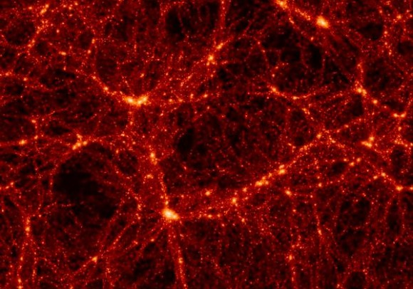 New research suggests that Dark Matter may exist in clumps distributed throughout our universe. Credit: Max-Planck Institute for Astrophysics