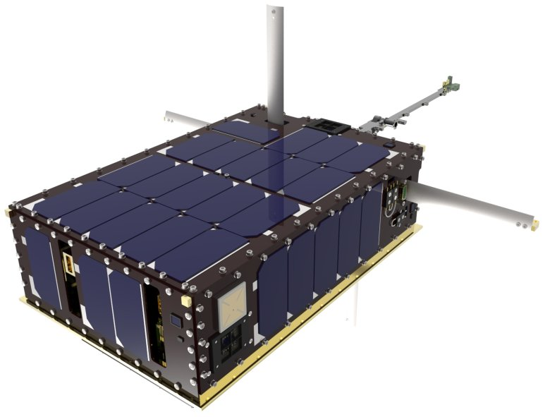 """A """"skunkworks"""" team has designed a new-fangled, first-ever 6U CubeSat (artist concept shown here) and plans to complete its construction and integration by February 2015 for a possible deployment from the International Space Station. Image Credit: NASA/Luis H. Santos"""